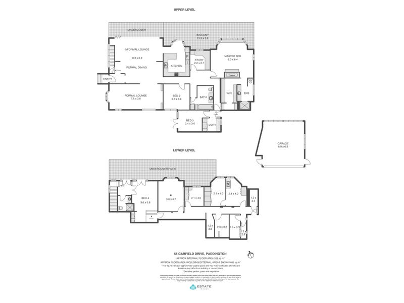 55 Garfield Drive, Paddington, Qld 4064 - floorplan
