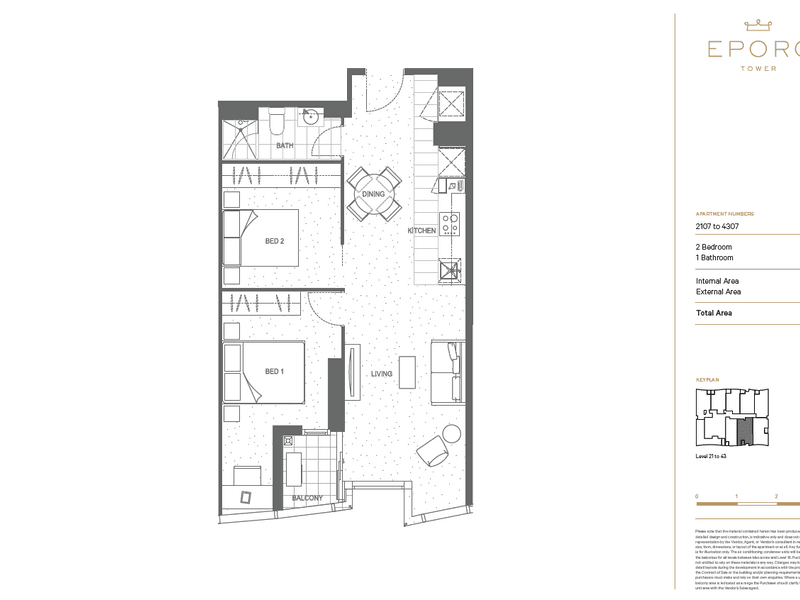 2407/279 Latrobe street, Melbourne, Vic 3000 - floorplan