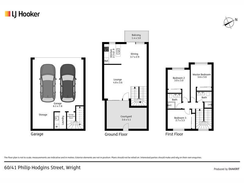 60/41 Philip Hodgins Street, Wright, ACT 2611 - floorplan
