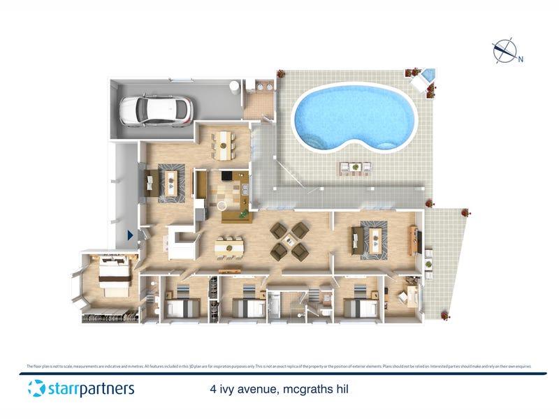 4 Ivy Avenue, McGraths Hill, NSW 2756 - floorplan