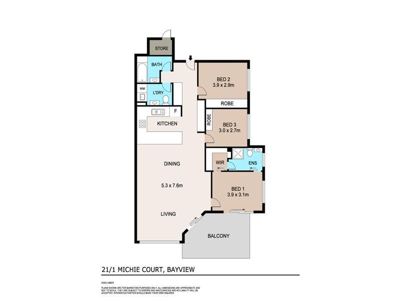 21/1 Michie Court, Bayview, NT 0820 - floorplan