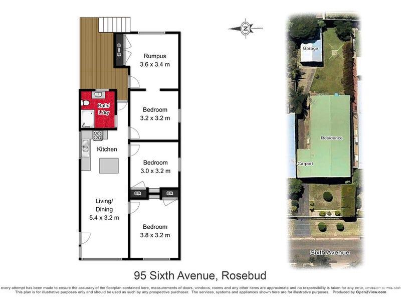95 Sixth Avenue, Rosebud, Vic 3939 - floorplan