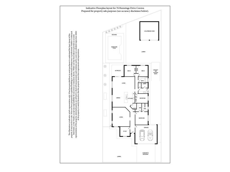 76 HERMITAGE DRIVE, Corowa, NSW 2646 - floorplan