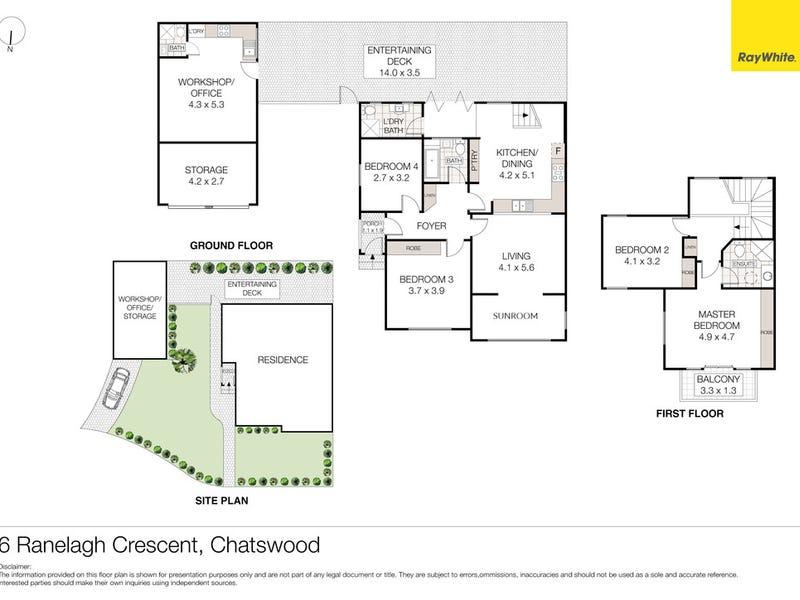 6 Ranelagh Crescent, Chatswood, NSW 2067 - floorplan