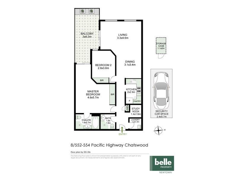 8/552-554 Pacific Highway, Chatswood, NSW 2067 - floorplan