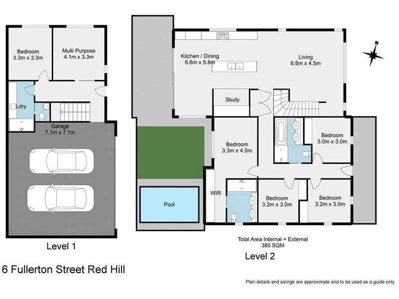 6 Fullerton Street, Red Hill, Qld 4059 - floorplan