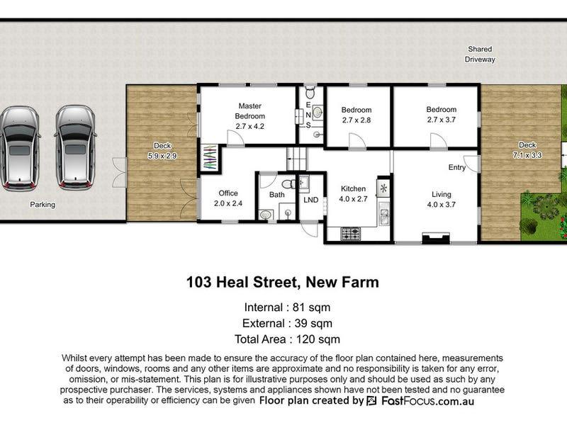 103 Heal Street, New Farm, Qld 4005 - floorplan