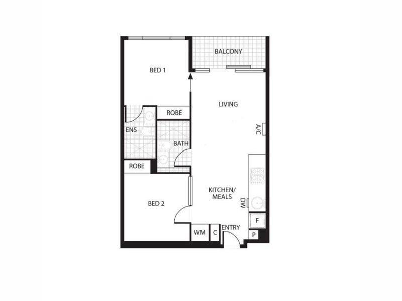 1404/33 Mackenzie Street, Melbourne, Vic 3000 - floorplan