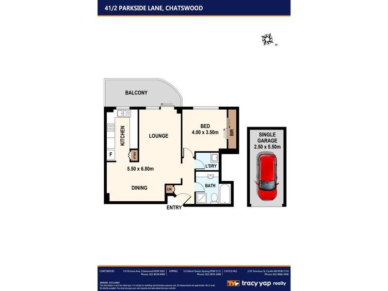 41/2 Parkside Lane, Chatswood, NSW 2067 - floorplan