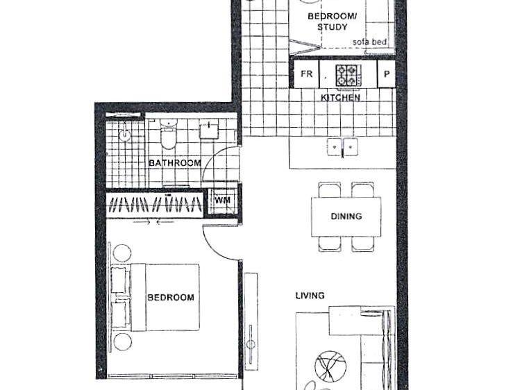 909/88 Archer Street, Chatswood, NSW 2067 - floorplan