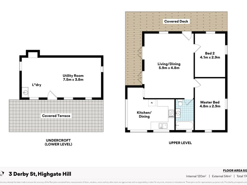 3 Derby Street, Highgate Hill, Qld 4101 - floorplan
