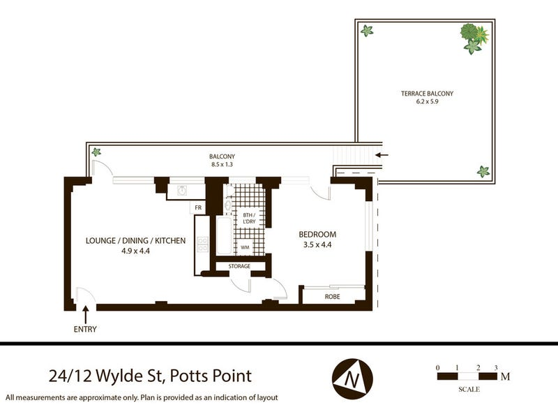 24/12 Wylde Street, Potts Point, NSW 2011 - floorplan