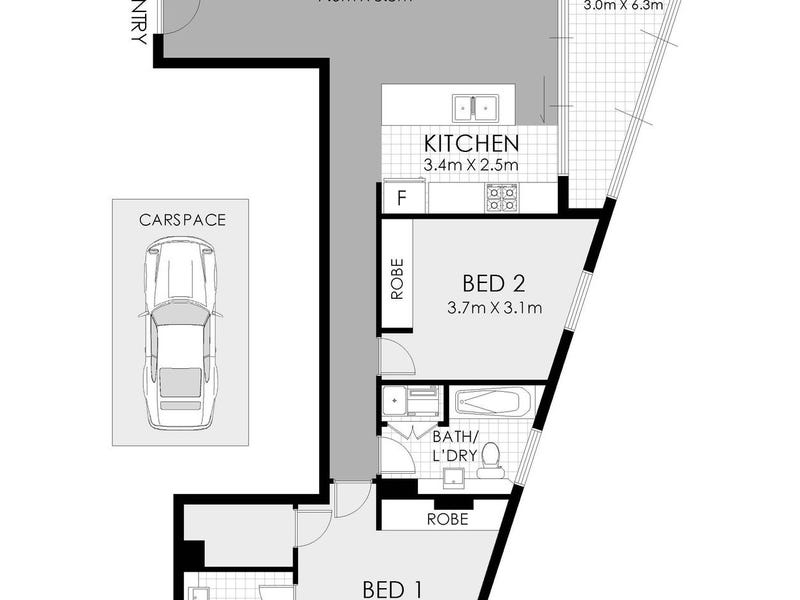 53XX/1 Post Office Lane, Chatswood, NSW 2067 - floorplan