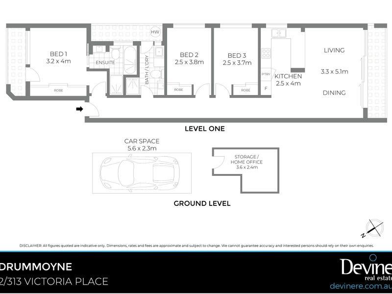 2/313 Victoria Place, Drummoyne, NSW 2047 - floorplan