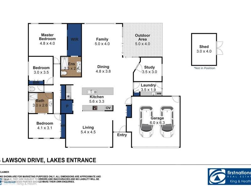 4 Lawson Drive, Lakes Entrance, Vic 3909 - floorplan