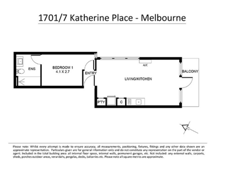 1701/7 Katherine Place, Melbourne, Vic 3000 - floorplan