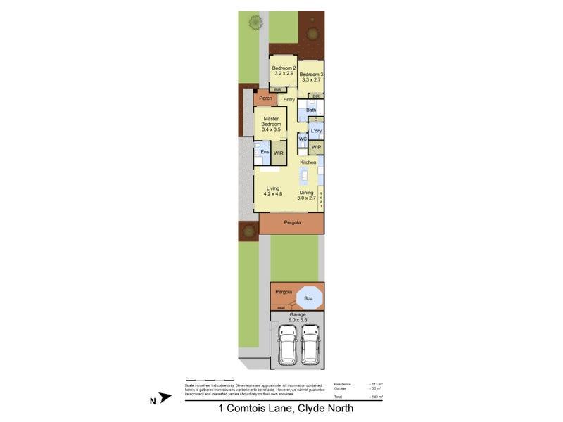 1 Comtois Lane, Clyde North, Vic 3978 - floorplan