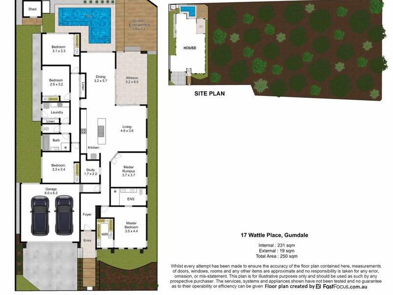 17 Wattle Place, Gumdale, Qld 4154 - floorplan