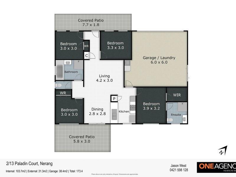 2/13 Paladin Court, Nerang, Qld 4211 - floorplan
