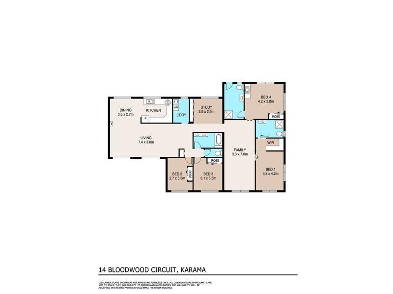 14 Bloodwood Circuit, Karama, NT 0812 - floorplan