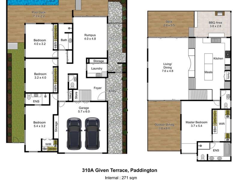 310a Given Terrace, Paddington, Qld 4064 - floorplan