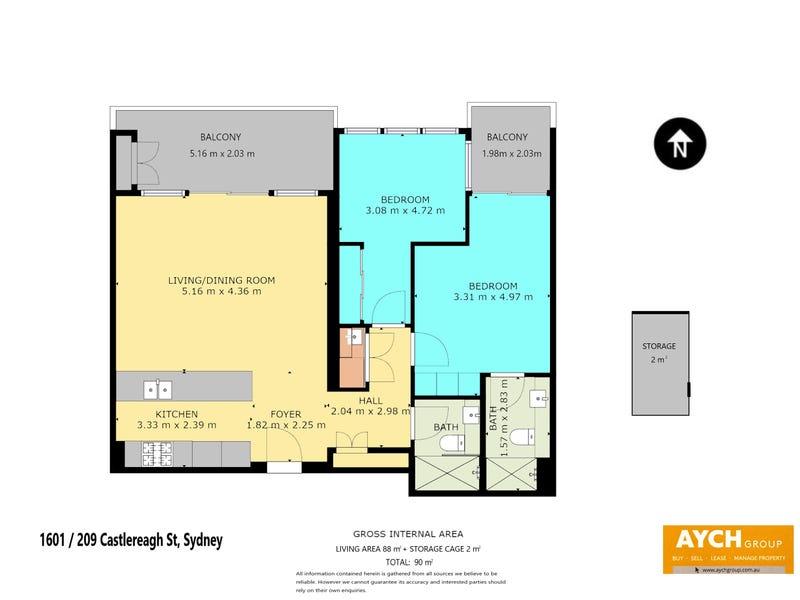 Level 16/209 Castlereagh Street, Sydney, NSW 2000 - floorplan