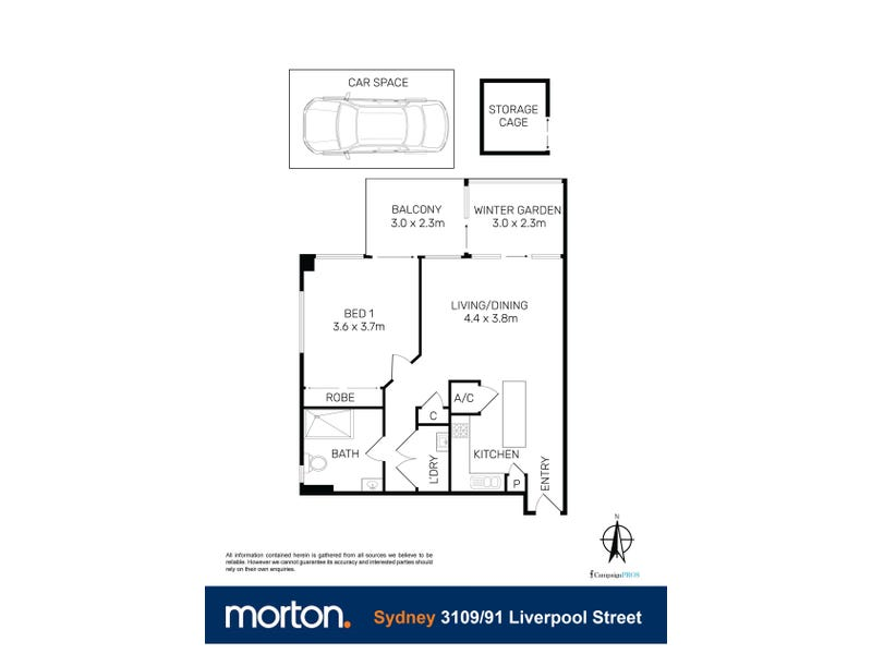 3109/91 Liverpool Street, Sydney, NSW 2000 - floorplan