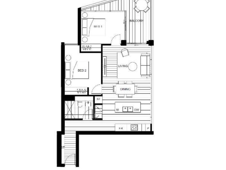 A301/2 Oliver Road, Chatswood, NSW 2067 - floorplan