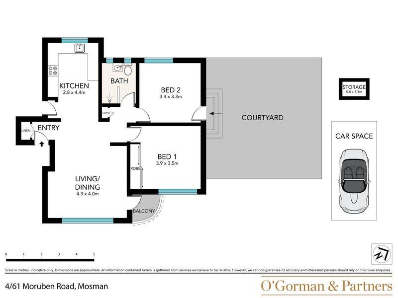 4/61 Moruben Road, Mosman, NSW 2088 - floorplan