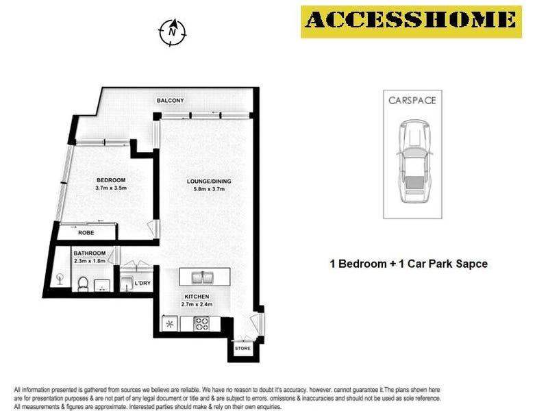 2302/438 Victoria Avenue, Chatswood, NSW 2067 - floorplan