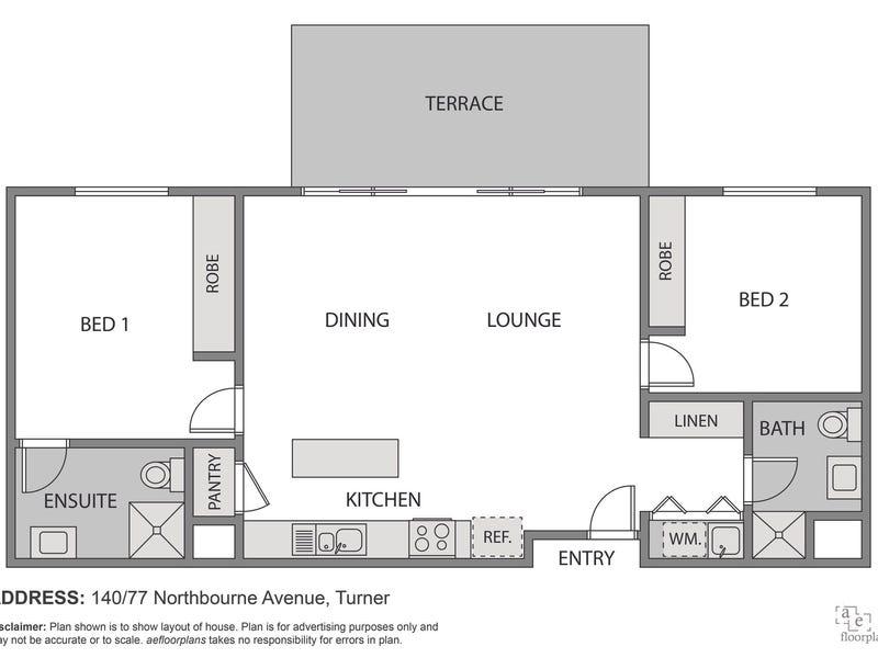 140/77 Northbourne Avenue, Turner, ACT 2612 - floorplan