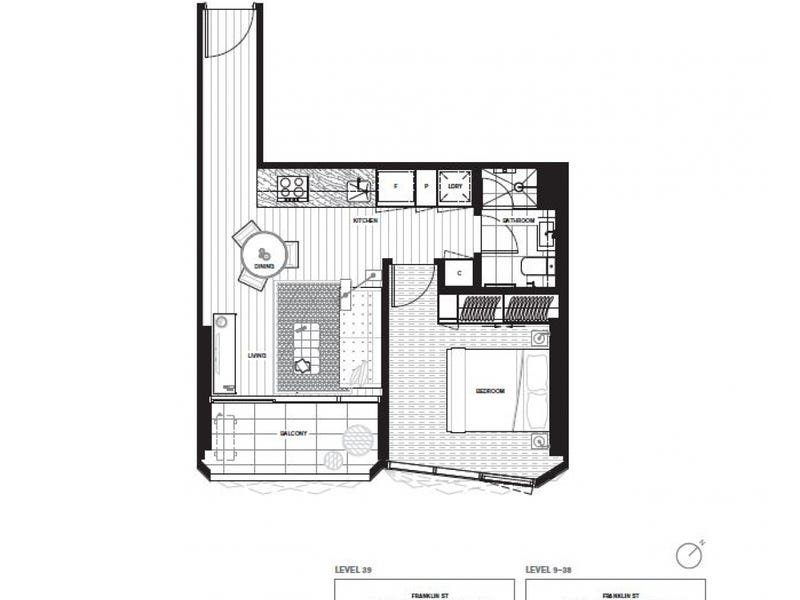 3606/450 Elizabeth Street, Melbourne, Vic 3000 - floorplan