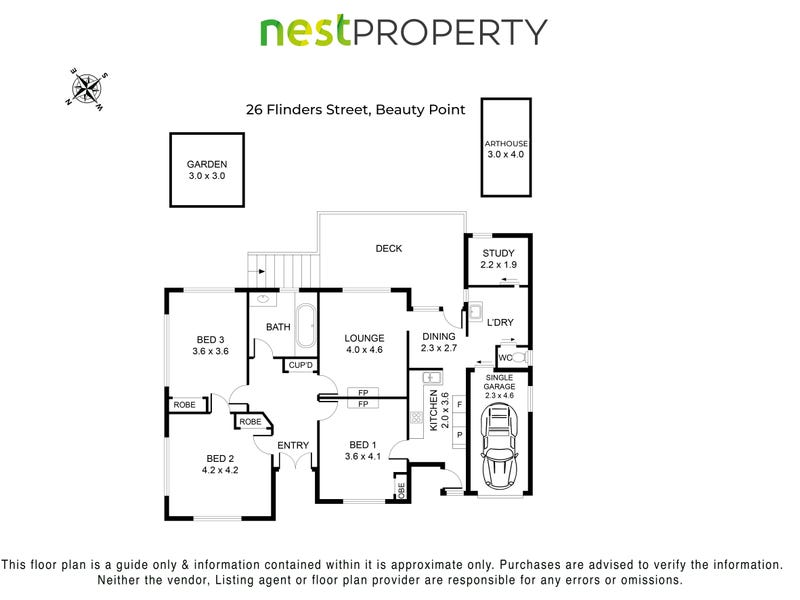 26 Flinders Street, Beauty Point, Tas 7270 - floorplan