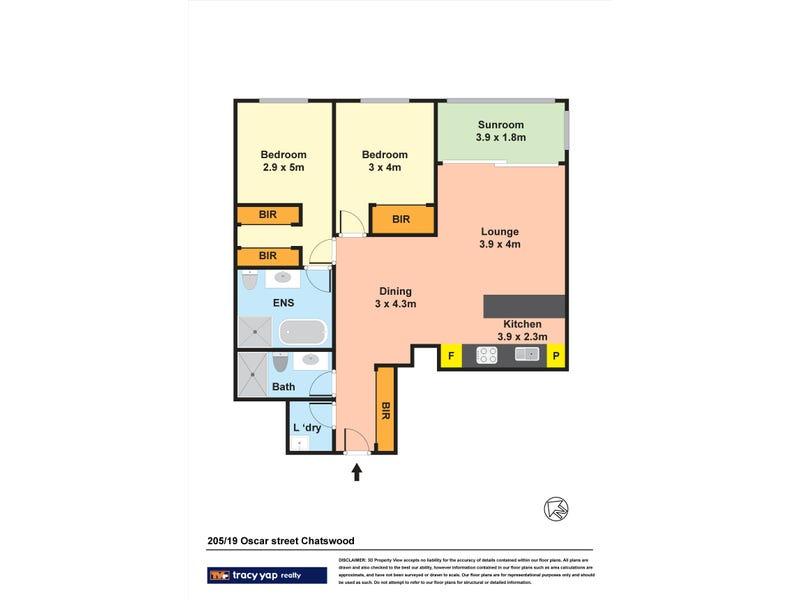 205/19 Oscar Street, Chatswood, NSW 2067 - floorplan