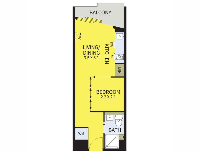 810A/243-263 Franklin Street, Melbourne, Vic 3000 - floorplan