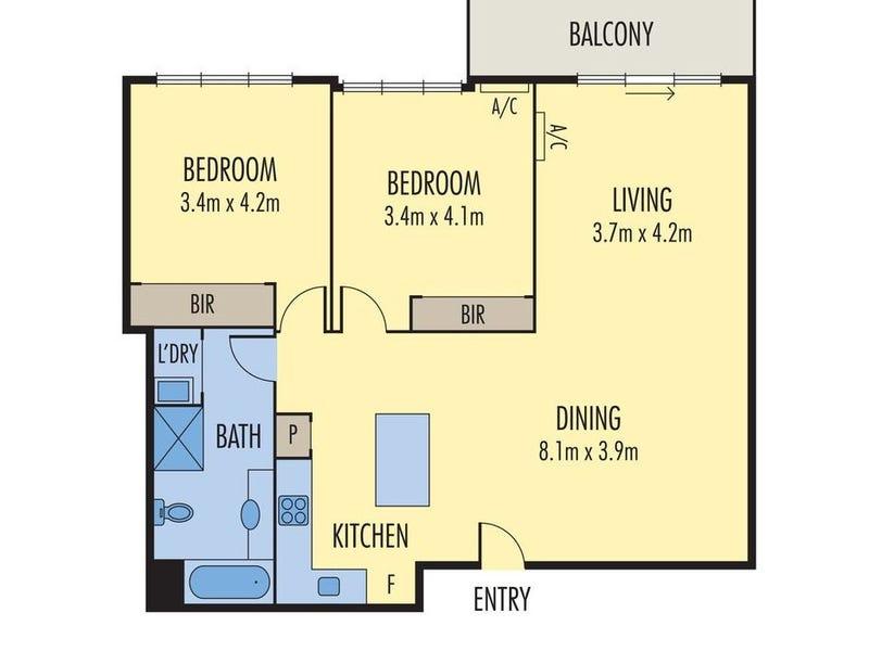 1229/422 Collins Street, Melbourne, Vic 3000 - floorplan