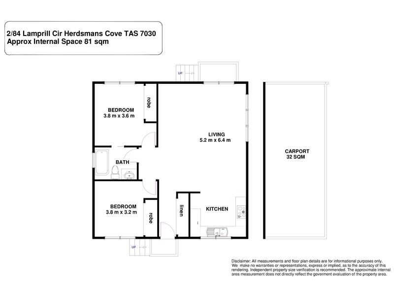 2/84 Lamprill Circle, Herdsmans Cove, Tas 7030 - floorplan