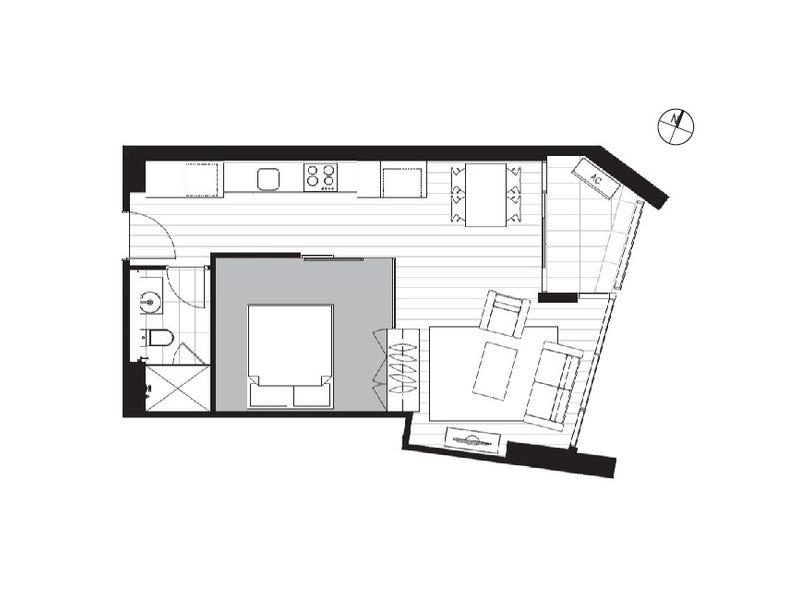 4601/33 Rose Lane, Melbourne, Vic 3000 - floorplan