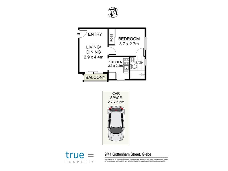 9/41 Gottenham Street, Glebe, NSW 2037 - floorplan