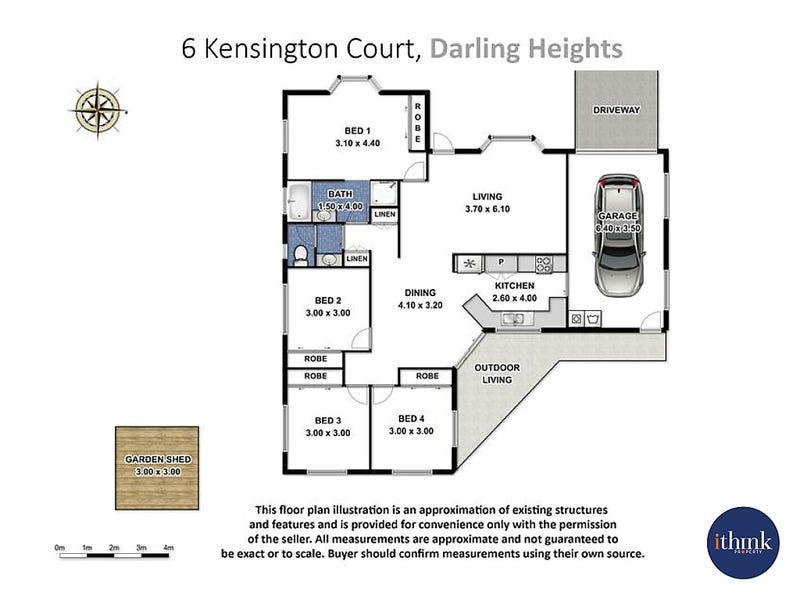 6 Kensington Court, Darling Heights, Qld 4350 - floorplan