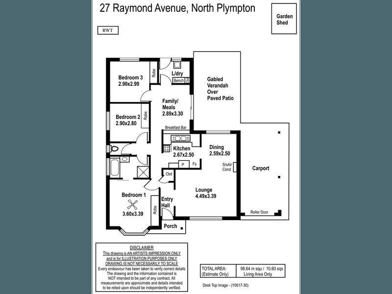27 Raymond Ave, North Plympton, SA 5037 - floorplan