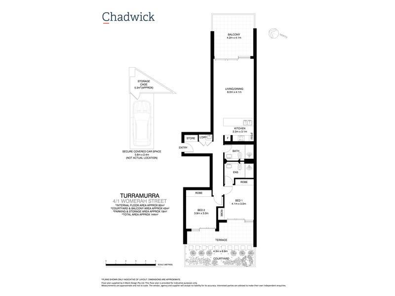 4/1 Womerah Street, Turramurra, NSW 2074 - floorplan