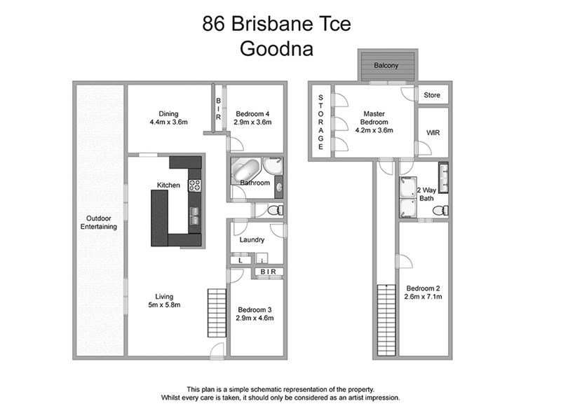 86 Brisbane Terrace, Goodna, Qld 4300 - floorplan