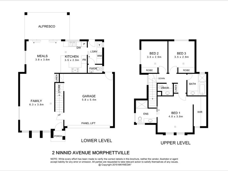 2A - 2C  Ninnid  Avenue, Morphettville, SA 5043 - floorplan