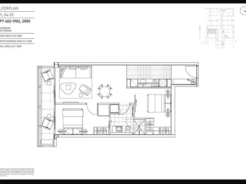 1902/199 William Street, Melbourne, Vic 3000 - floorplan