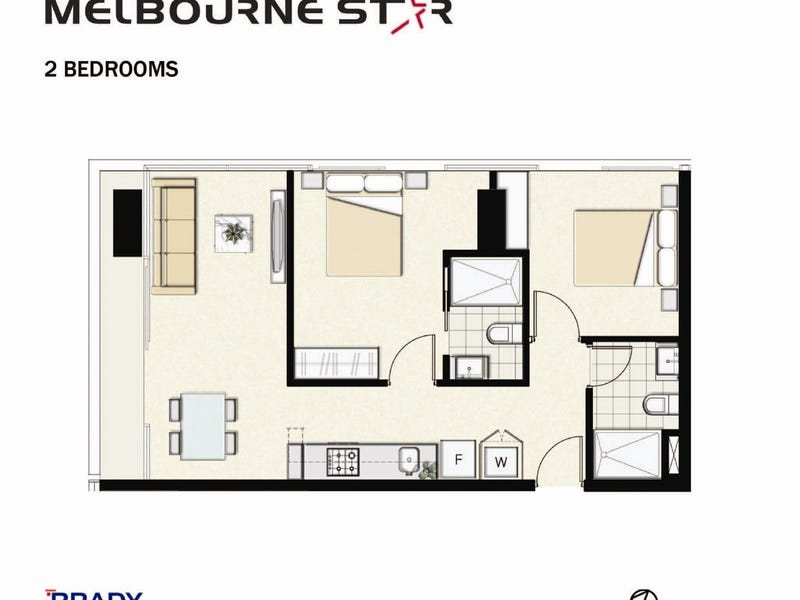 1507/8 Sutherland Street, Melbourne, Vic 3000 - floorplan