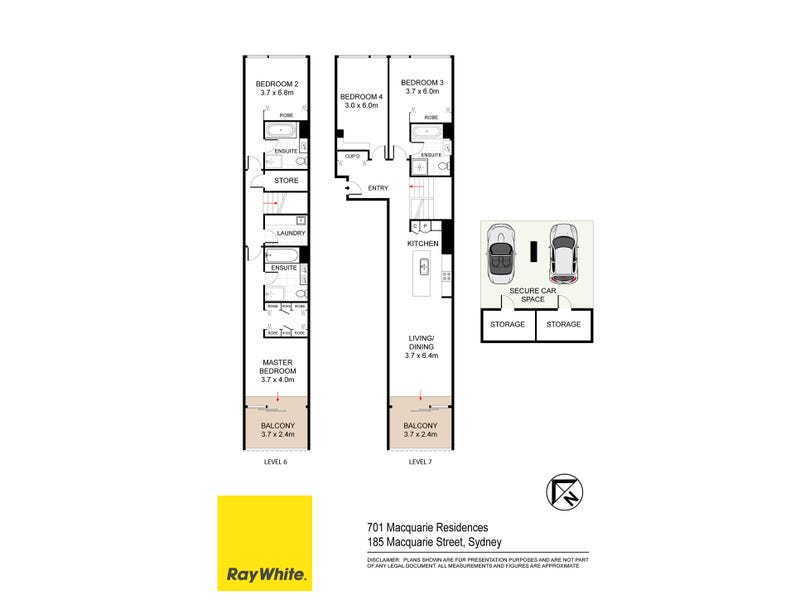 701 / 185 Macquarie Street, Sydney, NSW 2000 - floorplan