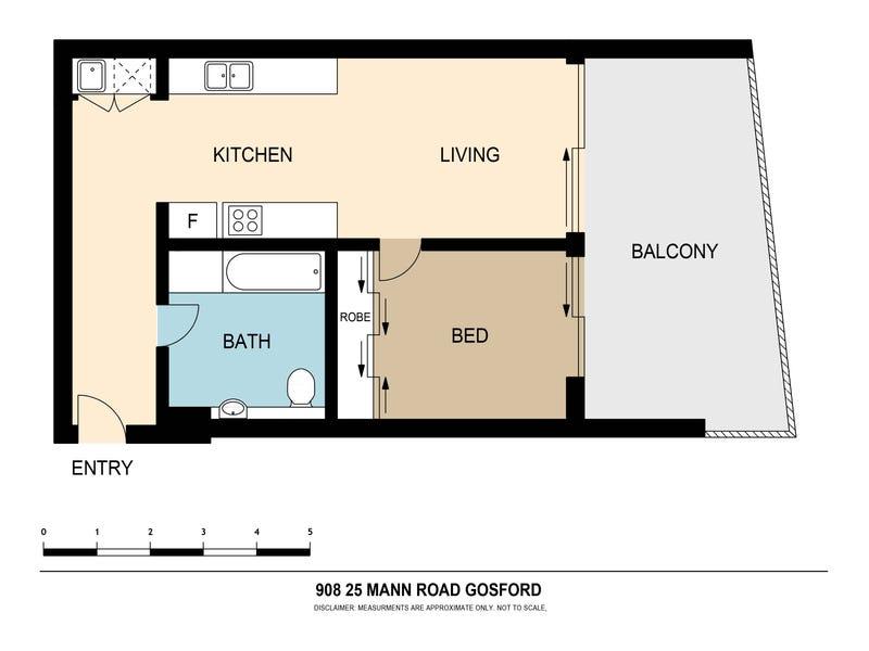 908/21-23 Mann Street, Gosford, NSW 2250 - floorplan