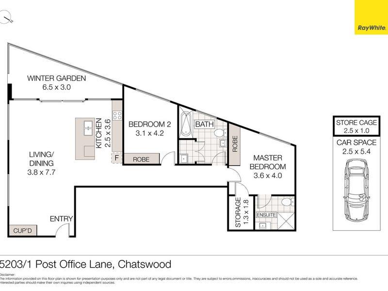 5203/1 Post Office Lane, Chatswood, NSW 2067 - floorplan