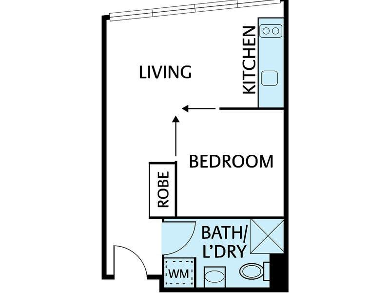 512/99 A'Beckett Street, Melbourne, Vic 3000 - floorplan